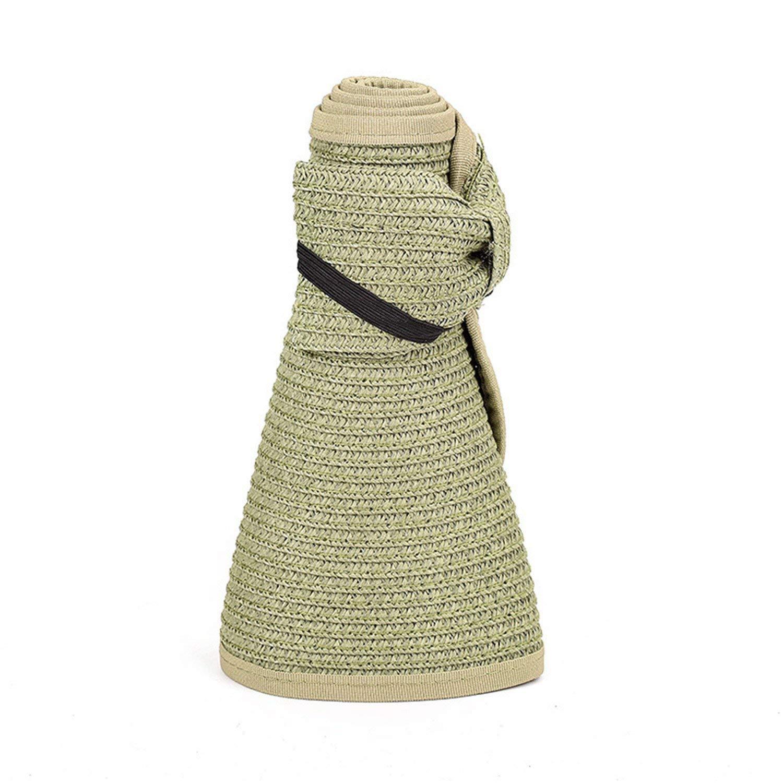 9ec683f70cad6 Get Quotations · Eric Hug hat Beach Hats Women Visors Foldable Wide Brim  Female Summer Sun Hat Women s Hats
