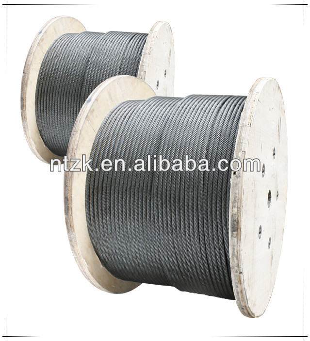 Steel wire ropes for aerospace controls/6 strands / steel wrie rope