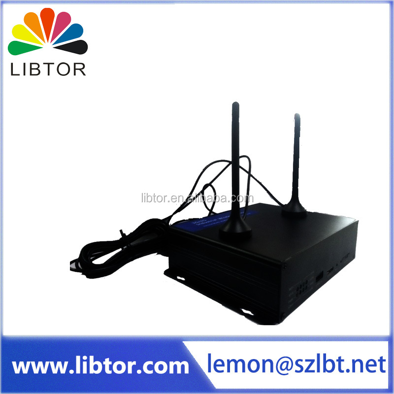 High Quality industrial grade USB 4G LTE HSDPA/GPRS/GSM Wireless Modem router with 2*RJ45 LAN Port