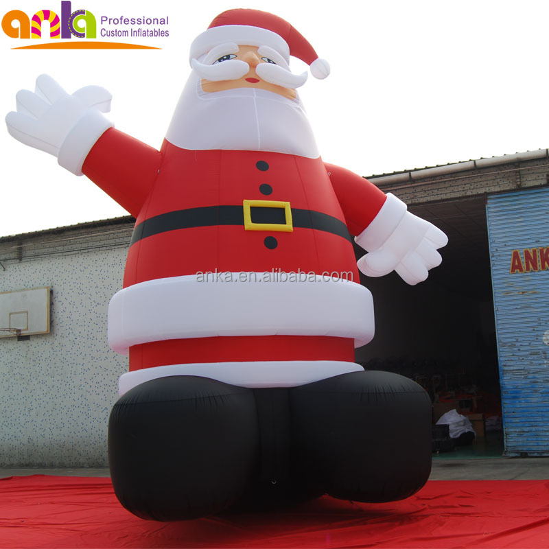 Xmas 2017 christmas inflatable figures type outdoor standing giant inflatable santa claus