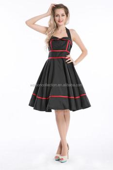 50s Vintage Style Dresses Plus Size Party Prom Retro 50\'s Pinup ...