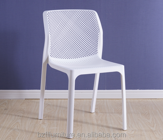 Cheap Plastic Patio No Arms Weight Dining Chair
