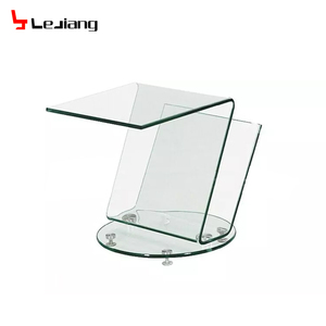 best selling products telephone bent glass sofa side table with news paper rack LCB124