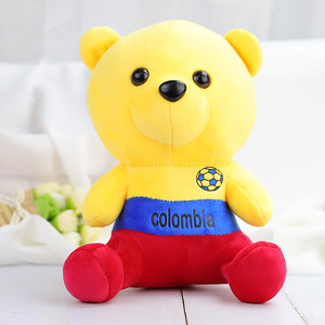 Wholesale Custom World Cup Bear Doll Stuffed Plush Toy for Kids Gift
