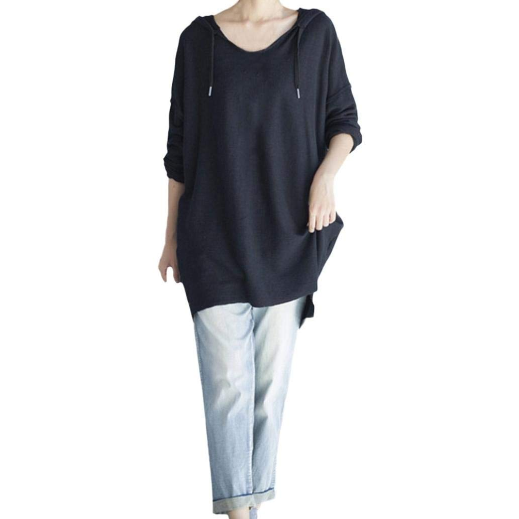 Feitengtd Womens Hooded Sweatshirt Fashion Casual Long Sleeve Hooded Sweatshirt Pullover T-Shirt Blouse Tunic Tops