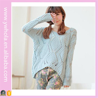 Hot Selling Pullover Yiwu Sweater Factory Supply Loose Crocheted Ugly Plain Sweater