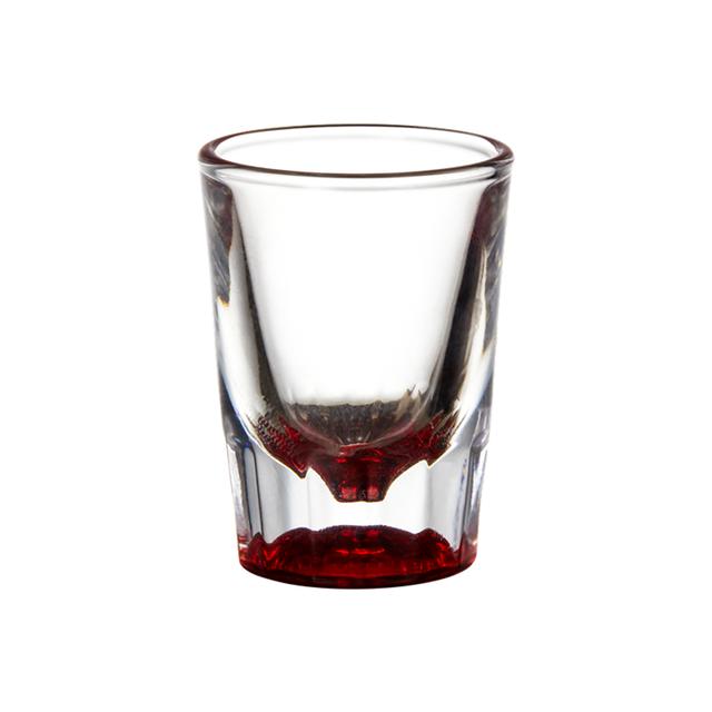 Juego de 2 vasos de chupito 25 ml, para bombas de vodka, c/ócteles, cervezas, bebidas de colores de doble pared, cristal transparente XMDZ
