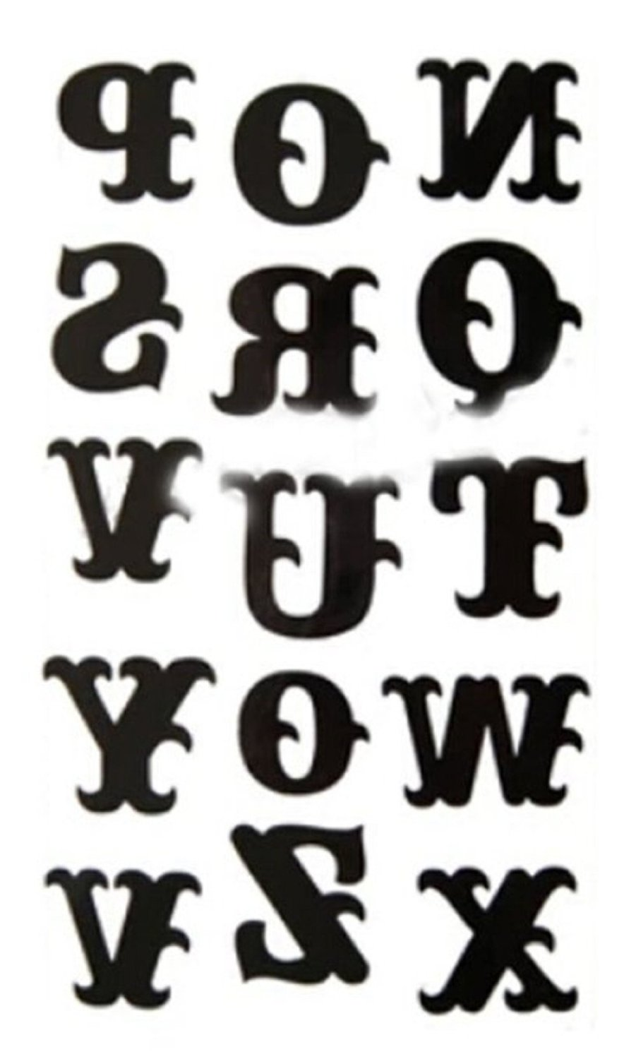 Kangkang@ Set of 1 Cool Gothic Letters DIY Name Body Tattoo Stickers Fake Tattoos Designs