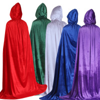Velvet Medieval Renaissance Hooded Robe Cloak Cape Costume QAMC-3401