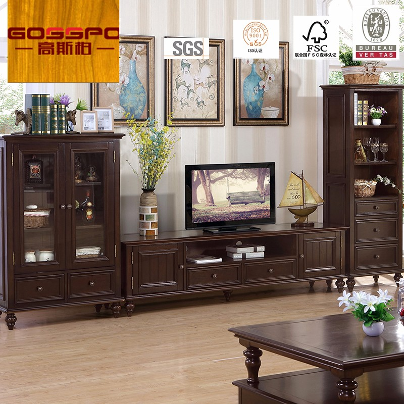 Clic Wooden Tv Stand Living Room Teak Wood Cabinet