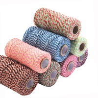 Free Samples 100m 2mm color Cotton Bakers Twine Christmas Baker Twine Or Popular New Arrival Baker Twine Gift