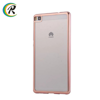 Phone accessories mobile case for Huawei P8 max for Huawei Ascend P8 P8 lite Electroplating tpu cases