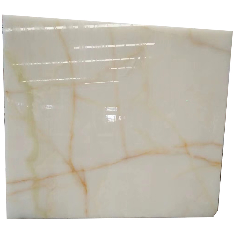 The Most Popular Translucent White Onyx With Yellow Veins for five star hotel