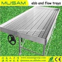 Rolling Wire Greenhouse Bench grow tray Ebb and Flow Hydroponic System