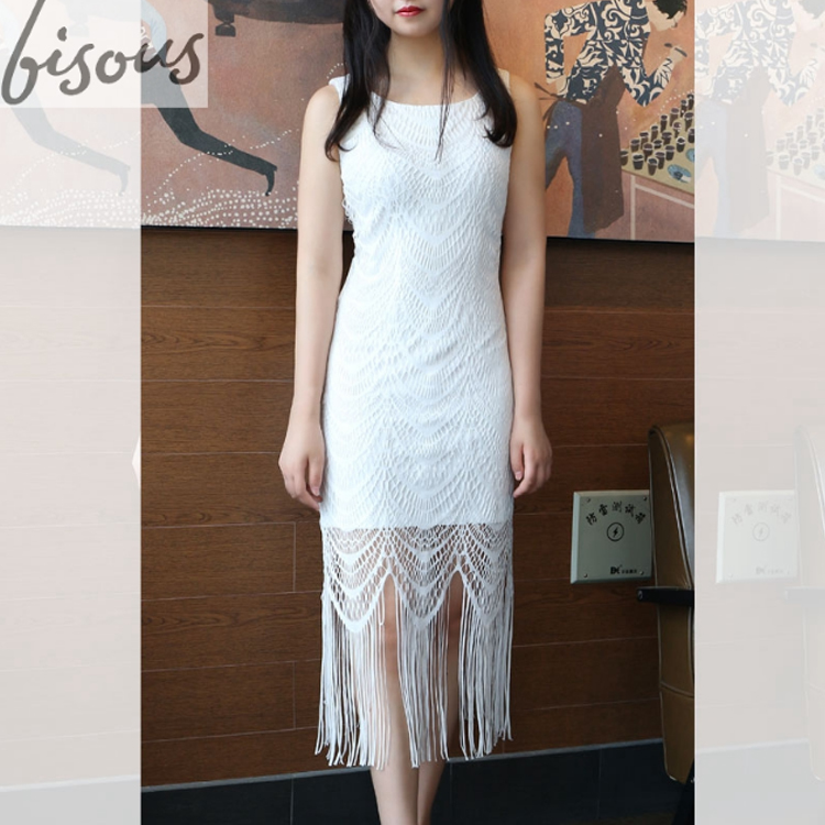 women's Floral Lace Sleeveless Dress Sheer A-line with Swing Party Dress