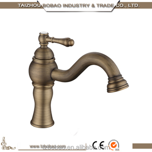 Hot Sell Antique Brass Faucet Wash Basin Lavatory Cold and Hot Water Mixer Tap