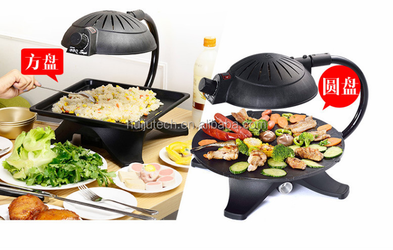 Hot Selling 1300w Temperature Controlled Indoor Infrared Grill Hj ..