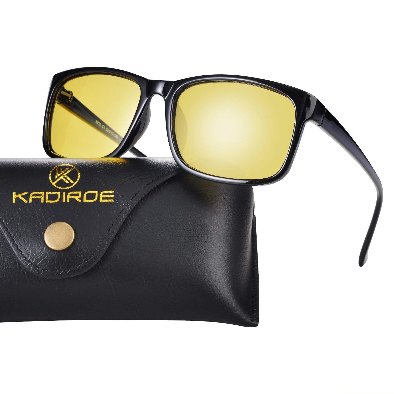 90f2caec593 Get Quotations · Night Driving Glasses Anti-glare Eyewear Square Polarized  HD night vision Sunglasses For Women Men Stylish