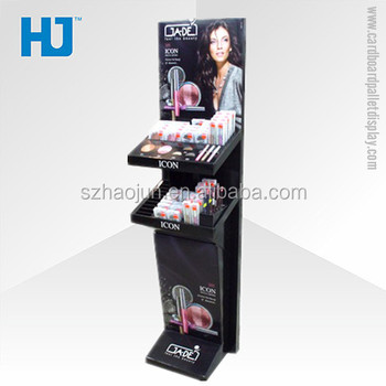 Free Sample Odm Or Oem Cardboard Floor Display For Liquid Shampoo,Mac  Cosmetic Makeup Paper Exhibition Stand - Buy Folding Display Stand,Floor