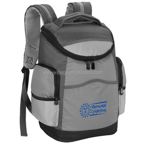 heavy-duty cooler is made out of gray 600D polyester with 600D rip-stop trim mini icebox backpack with cooler compartment