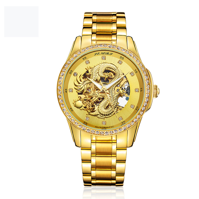 2017 Luxury Brands Roles 22k Gold Watch Dragon Automatic Men Watch