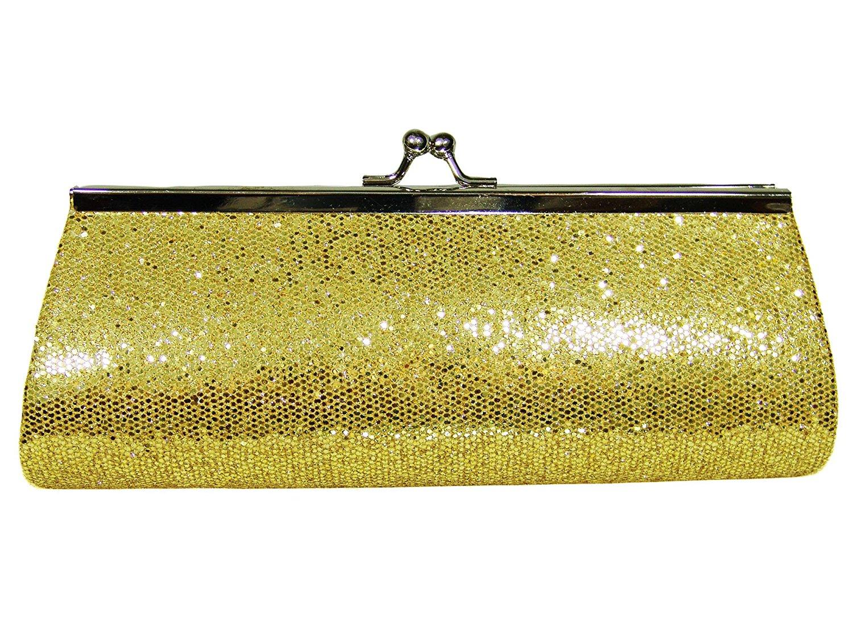 Get Quotations Gold Metallic Evening Bag Handbag Clutch Shoulder
