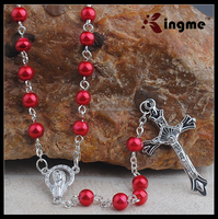 6MM Rosary Necklace with Catholic Christian Religious Cross Crucifix