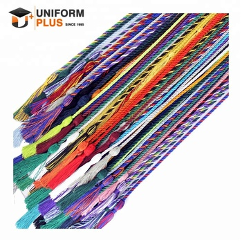 Wholesale cheap college university ceremony graduation honor tassel and honor cords
