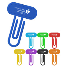 New best cheap 2 in 1 OEM print logo colorful PP plastic 13 cm 4 inches ruler annular shape customized mini paper clip bookmark