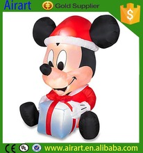 Custom design inflatable mickey mouse /inflatable christmas cartoon