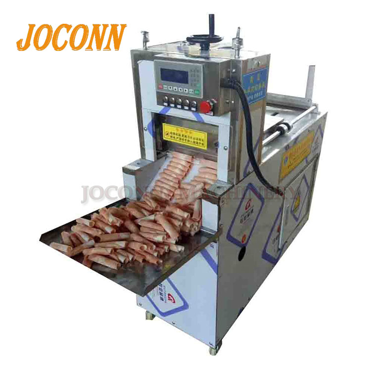 Stainless Steel Domba Kebab Roll Mesin Pemotong Daging Beku Steak Daging Sapi Daging Kambing Roll Cutting Mesin Pengiris UNTUK RESTORAN