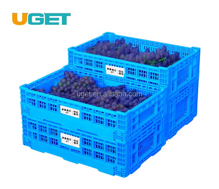 Vegetable & Fruit Collapsible Folding Crate Collapsing Foldable Plastic Crate