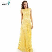 Dressv daffodil длинное вечернее платье, Дешевое платье с глубоким вырезом, аппликацией и открытой спиной, свадебные вечерние платья, вечернее пла...(Китай)