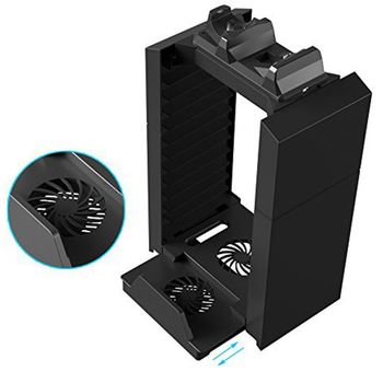 Cooler Fan Detachable Disc Storage Charge Stand For Ps4 Ps3 Ps Move Console Controller