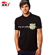 custom men's short sleeve brand polo t shirt with printed pocket online shopping india