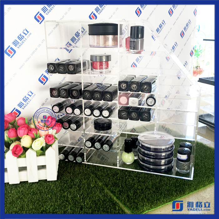 High-end Fashionable acrylic cosmetic display stand wholesale