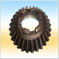 umbrella shaped customized straight teeth bevel gears with grinded teeth