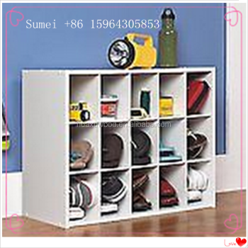 HX SM 20160326 Shoe Rack ClosetMaid 15 Cubby Shoe Organizer Accessory  Storage Shelf Rack Holder