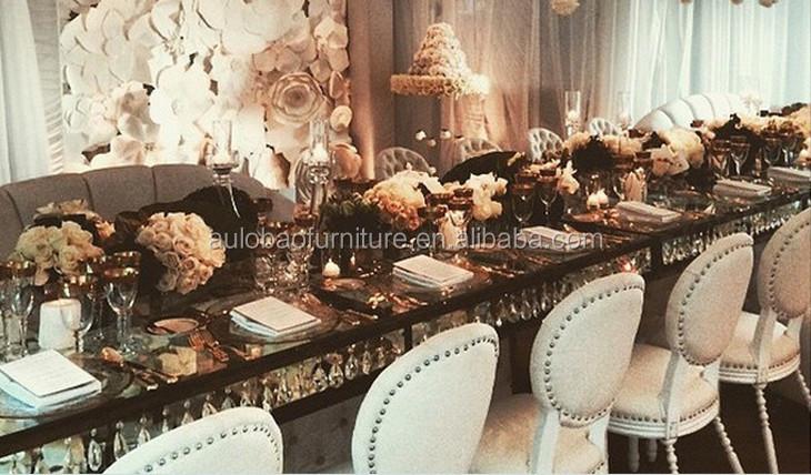Romantische Design Hohe Qualität Edelstahl Kristall Kronleuchter Esstisch  Designs