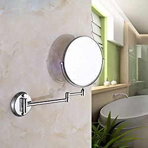 Bathroom mirrors Zoom in beauty mirror hotel makeup mirror folded mirror wc telescopic mirrors Bathroom Wall Mount