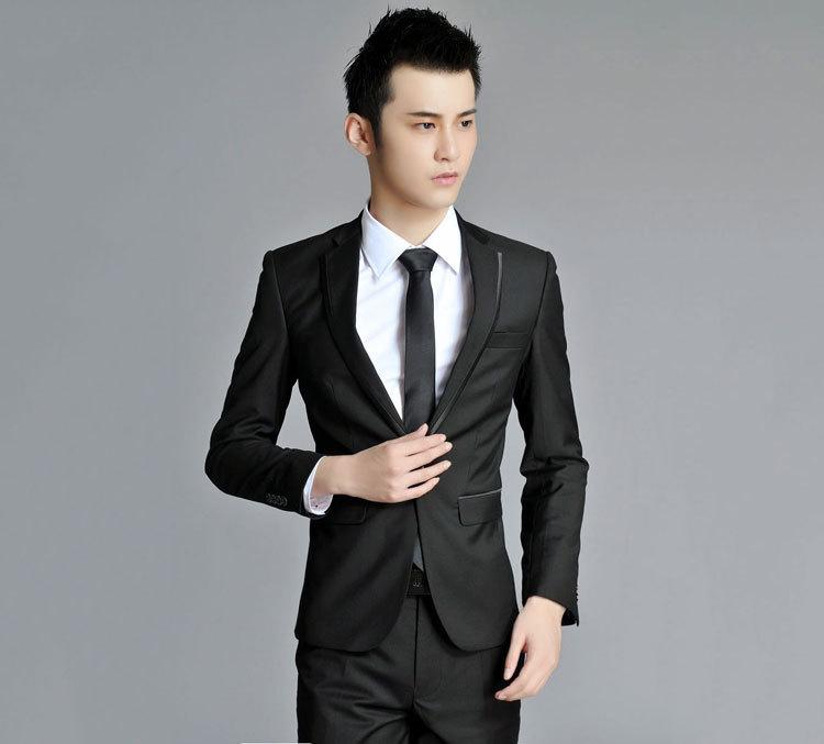 Korea Edition Suit,Black,Best Wedding Suit For Man - Buy Italian ...