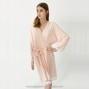 2017 New Design Satin Sexy Cotton Lace Robe Rayon Cotton Robes ... e5174244a