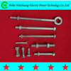 pole line hardware galvanized forged eye bolts and nuts