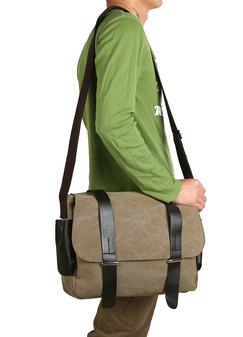 6426c44192d0 Buy High Quality Vintage Canvas Shoulder Bag Casual Large School Bag  Outdoor Hiking Men Shoulder Bag Tactical Crossbody Shoulder Bag in Cheap  Price on ...