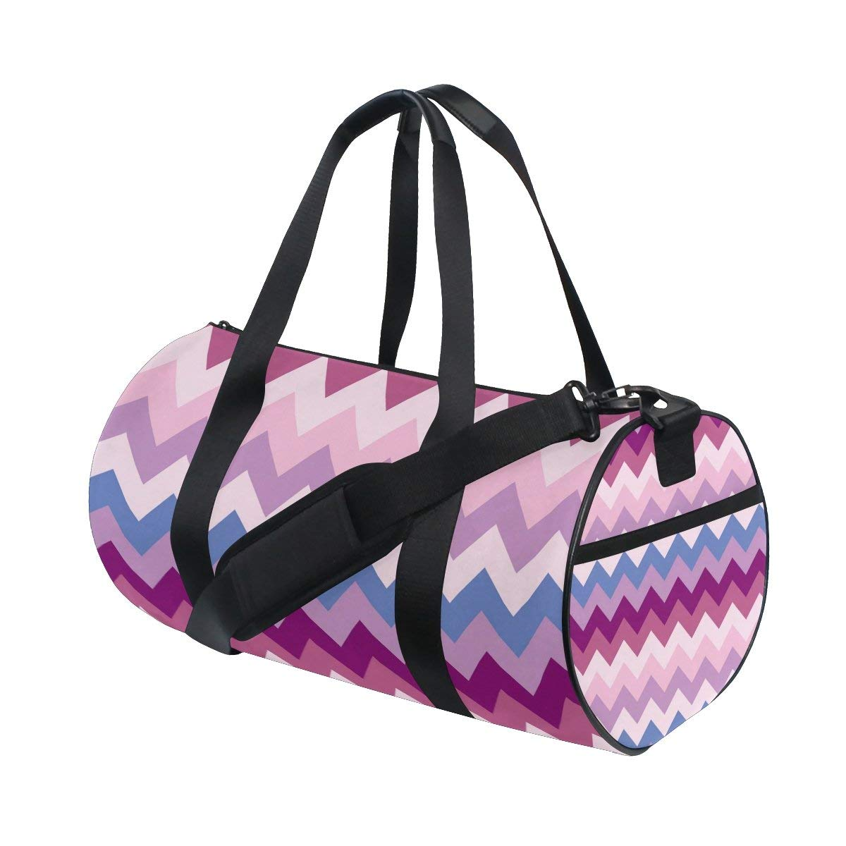 86f6e902f044 Get Quotations · ALIREA Chevron Duffle bag Shoulder Handy Sports Gym Bags  for Men and Women