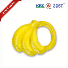 365T Eco friendly BPA Free banana shape water filled silicone baby teether