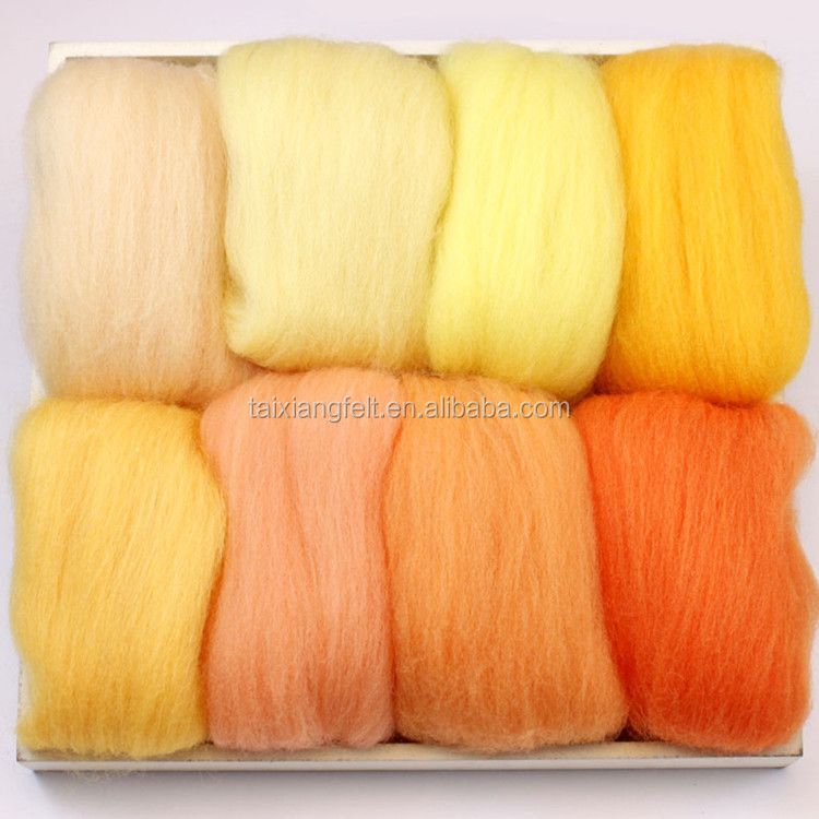 low price top quality colorful fine wool combing