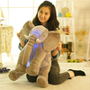 hot sale night light sky display musical grey elephant plush animal toy for accompany baby kid sleeping pillow