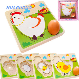 Denmark top sale children's educational toys Chick hen grows egg laying process birthday gift for kids child wooden toy