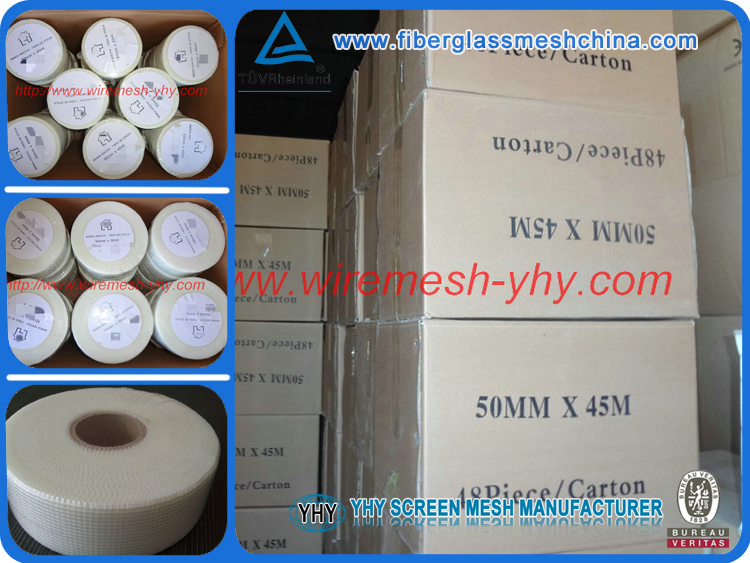 White fiberglass insulation tape